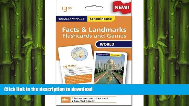 Read Book Rand Mcnally Schoolhouse World Facts   Landmarks Flashcards And Games Kindle eBooks