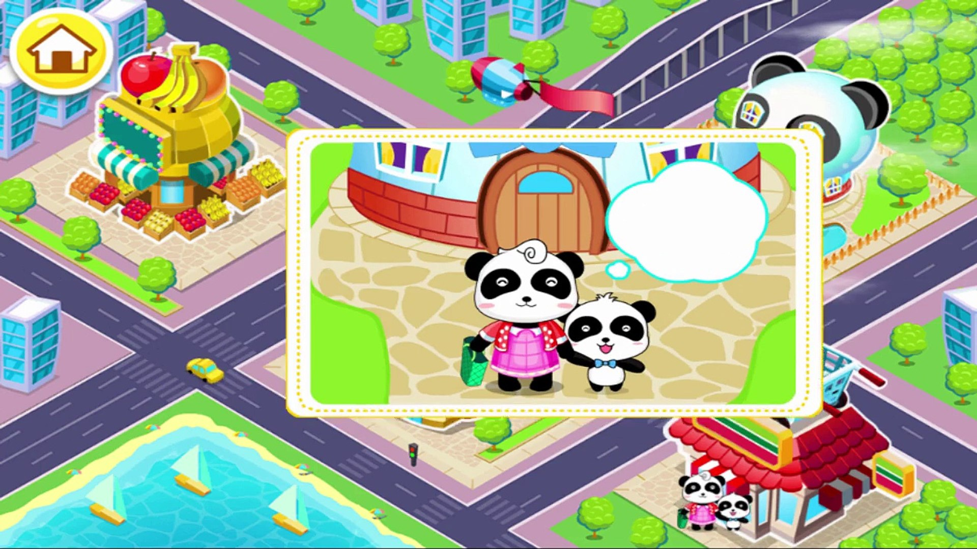 Kids learn about Life while traveling - Tips for Kids with Baby Panda Game Travel Safety Babybus