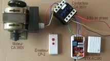 Comment Contrôler le Moteur CA 380V ou moteur triphasé avec Emetteur-Récepteur radio/pompe à eau