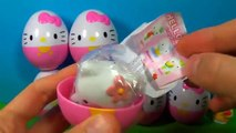 HELLO KITTY eggs surprise Unboxing 8 Hello Kitty surprise eggs HELLO KITTY Hello Kitty 킨더 서프라이즈