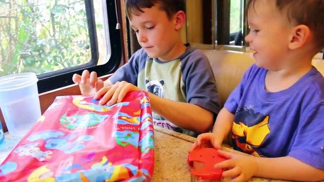 PRESENT PRANK! Toby's BIRTHDAY Present PRANK April Fools Day Joke Ideas + Family Fun Beach