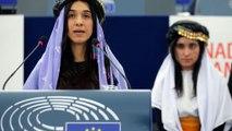 Yazidi Islamic State survivors and activists Nadia Murad and Lamiya Aji Bashar receive Sakharov Prize