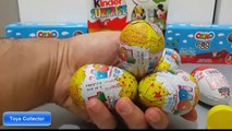 Kinder surprise eggs play doh many mickey mouse surprise eggs unboxing eggs disney Toys Collector