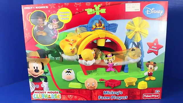 Mickey Mouse Clubhouse Farm Mickey 39 s Farm Playset Minnie Mouse Disney Farm Animals Toy