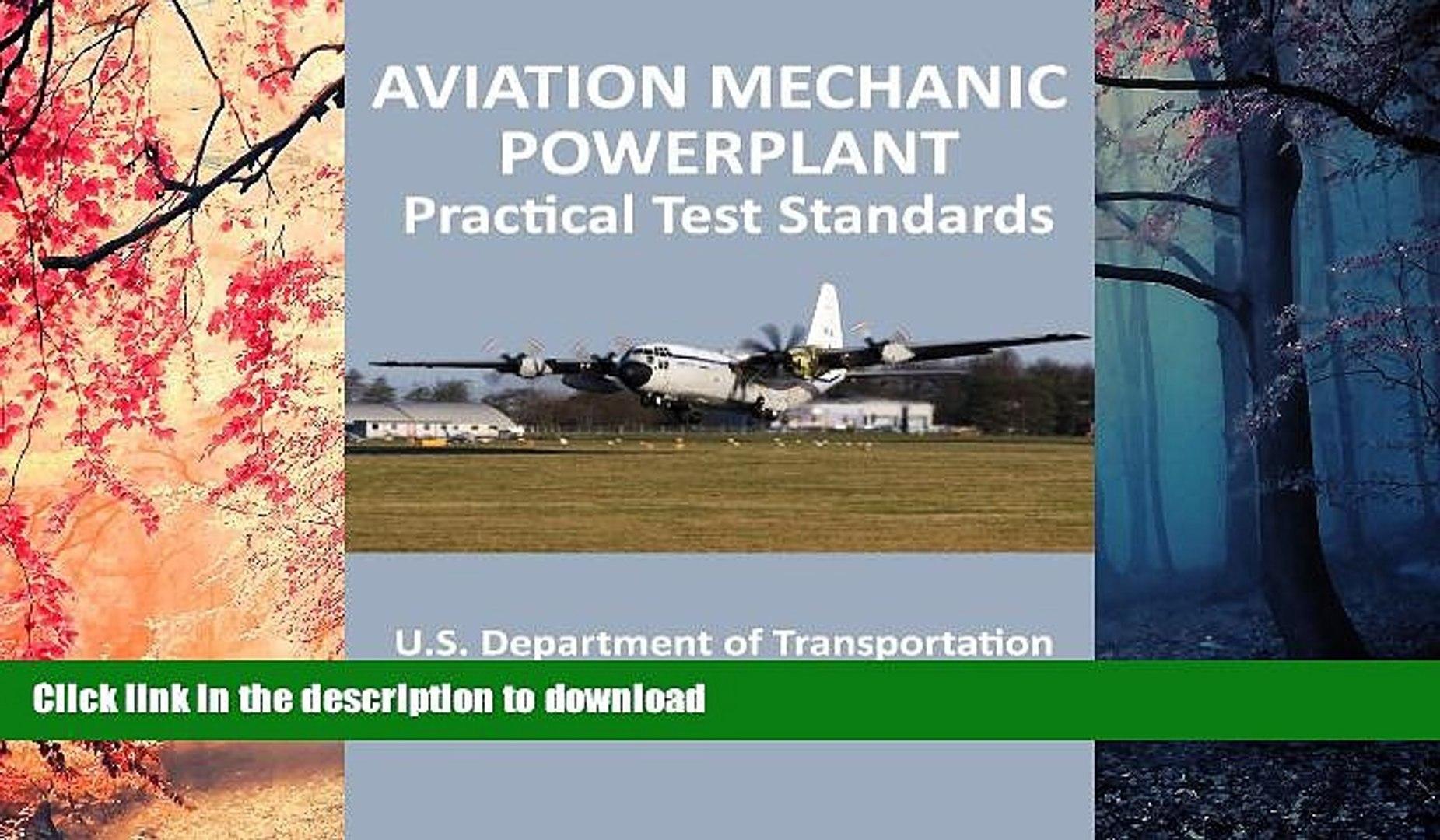 Pre Order Aviation Mechanic Powerplant Practical Test Standards On Book
