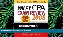 Hardcover Wiley CPA Exam Review 2008: Regulation (Wiley CPA Examination Review: Regulation) Full