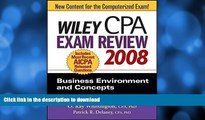 Pre Order Wiley CPA Exam Review 2008: Business Environment and Concepts (Wiley CPA Examination