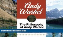 Audiobook  The Philosophy of Andy Warhol (From A to B and Back Again) Andy Warhol Pre Order