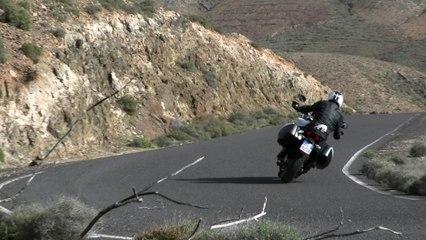 La Ducati Multistrada 950 en action à Fuerteventura