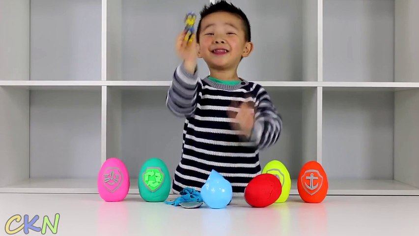 Play-Doh Surprise Kinder Eggs Paw Patrol Toys Opening Ckn Toys - 2016