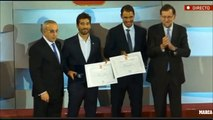 Rafael Nadal and Marc Lopez at the XI Annual Gala of Spanish Olympic Committee (COE)