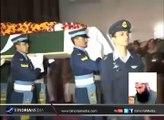 جنید جمشید مرحوم کی مکمل فوجی اعزاز کے ساتھ نماز جنازہ نور بیس چکلالہ میں ادا کردی گئی