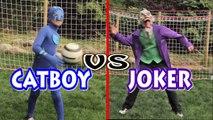 PJ Masks Catboy vs Batman Joker Soccer Futbol Game - Good Guys vs Bad Guys