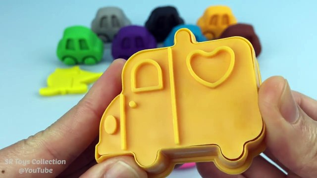 Play & Learn Colours with Play Doh Cars with Transport Cookie Cutters Fun and Creative for Kids