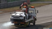 Lamborghini Huracán SuperTrofeo Crashes Hard Into Wall at Monza Circuit!Lamborghini Huracán SuperTrofeo Crashes Hard Into Wall at Monza Circuit! 04