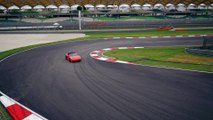 Video of actions happening at the Porsche Media Driving Academy 2016