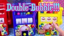 GUMBALL MACHINES Toys Dubble Bubble Red, Yellow & Blue Bubble Gum Toys + Surprise Coin Machine