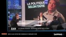 Éric Zemmour : Bernard Tapie le menace sur Paris Première, énorme clash (Vidéo)