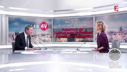 """Nicolas Dupont-Aignan sur France 2 : """"La droite la plus bête du monde ne doit pas faire revenir les socialistes."""""""