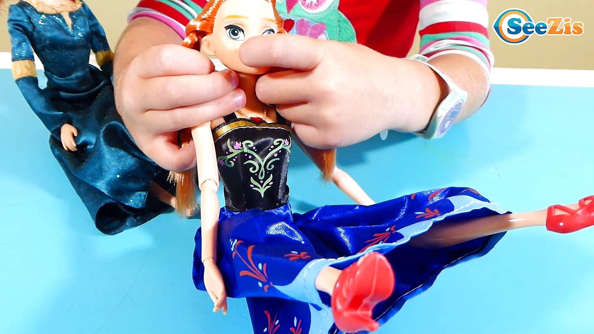 ✔ Принцессы Диснея Анна и Мерида с Машей на приеме у логопеда / Princesses Disney Anna & Merida ✔