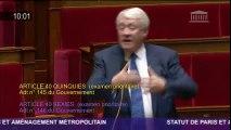 Goasguen désaccord gouvernement majorité Statut de Paris