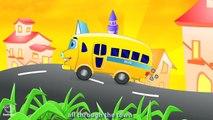 Wheels On the Bus Go Round & Round - Nursery Rhymes With Lyrics - Cartoon Animation Songs