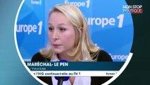 """IVG : Marion Maréchal-Le Pen assure que sa tante """"n'a pas changé de position"""""""