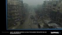 Alep: Un drone survole la ville entièrement dévastée par les bombardements, les images chocs (Vidéo)