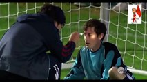 funny football moments : football Player saves all penalties with his face
