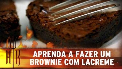 Aprenda a fazer brownie com chocolate laCreme, da Cacau Show