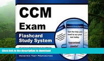 Hardcover CCM Exam Flashcard Study System: CCM Test Practice Questions   Review for the Certified