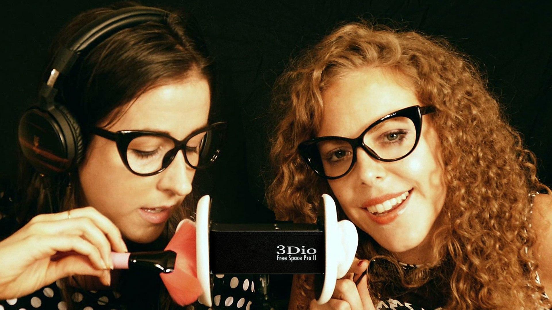 Watch Me Make Natalie Tingle! 2 Girls ASMR Ear Massage, Brushing, Whispering, Tapping