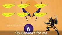 3D Animated Wolverine One Banana Two Banana | Kids Most Popular Nursery Rhymes | Learning Lyrics