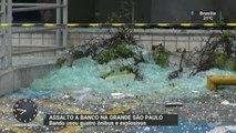 SP: Bandidos armados com fuzis explodem caixa eletrônico em Diadema