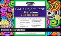 Price SAT Subject Tests: Literature 2005-2006 (Kaplan SAT Subject Tests: Literature) Kaplan For