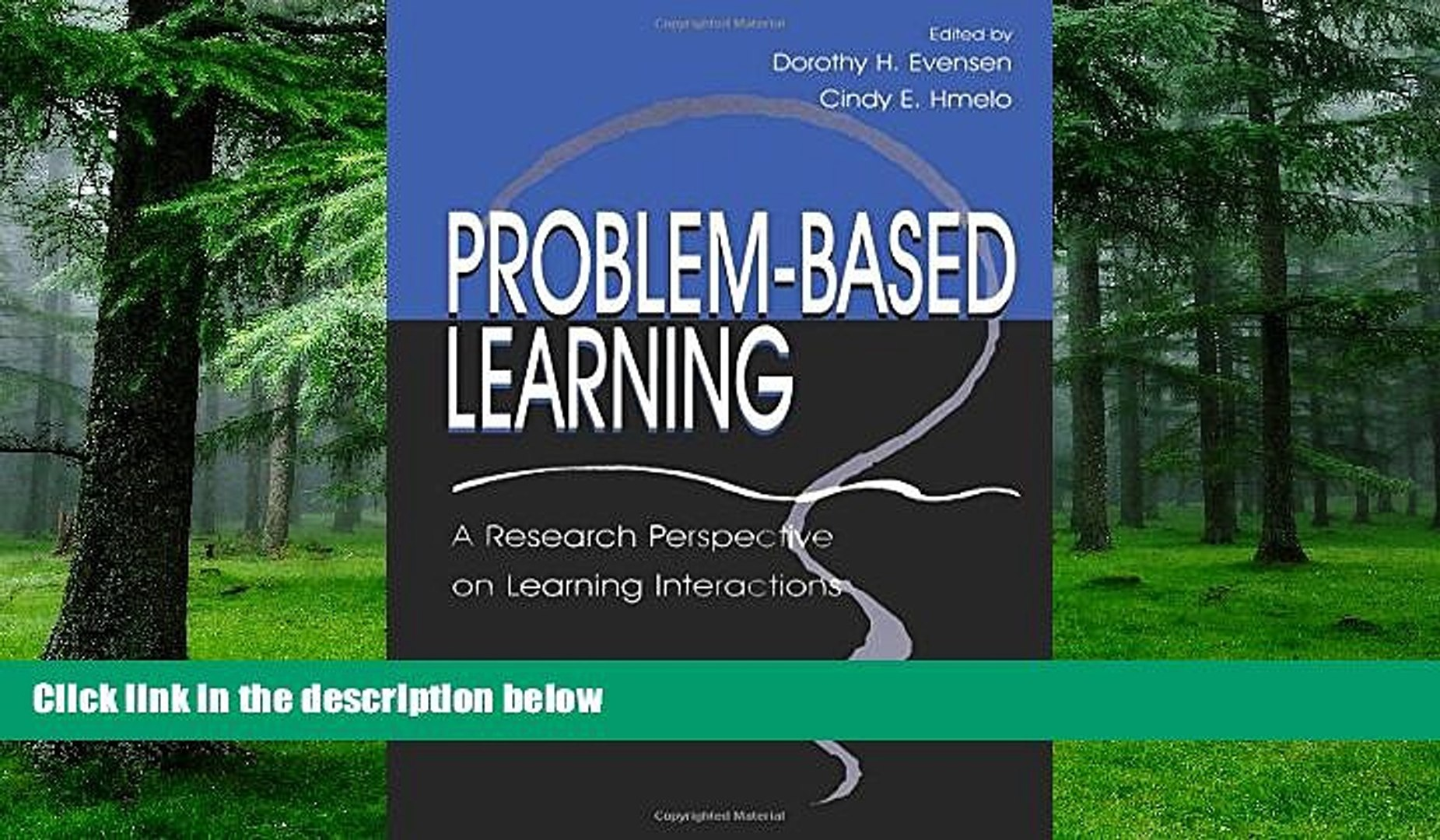 Buy  Problem-based Learning: A Research Perspective on Learning Interactions Dorothy H. Evensen