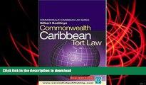 Pre Order Commonwealth Caribbean Tort Law (Commonwealth Caribbean Law) Full Book