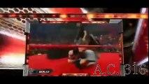Randy Orton hits an RKO Outta Nowhere on Cena; Orton & Mark Henry promo 2_4_08