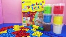 ABC Knete Kneten mit Kindern - Das Alphabet lernen mit Knete für Kinder Demo   deutsch learn abc