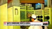 NATO's North Atlantic Council adopts statement condemning N. Korea