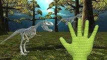 Halloween Skeleton Dinosaur Finger Family | Finger Family Dinosaur Nursery Rhymes 3D