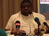 Football: Kone Cheick Oumar, ex PCA de l'Africa Sport juge Sidy Diallo, president de la FIF