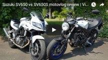 Suzuki SV650 vs SV650S motovlog review Visordown road test