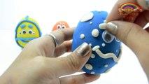 Color Play Doh Surprise Eggs Nursery Rhymes | Giant Play Doh Surprise Eggs W/ Animal Toys