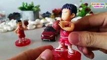 Welly Nex Toy Car, Sport Range Rover Evoque & SLAM DUNK, Sakuragi, Rukawa   Kids Fun Toys Videos