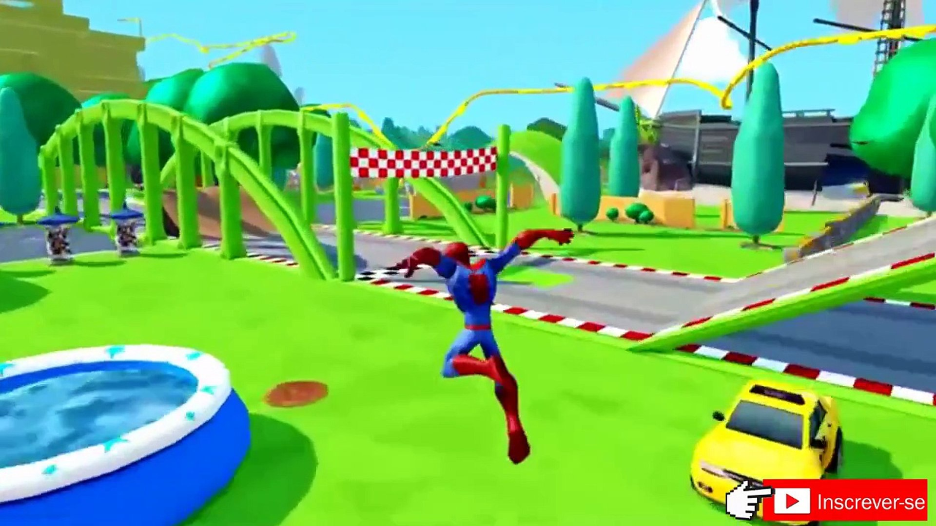 Homem aranha save Disney Pixar Carros atacado de Groot, Canção das crianças de DCTV