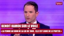 """REPLAY. Benoit Hamon sur le voile : """" la femme, au nom de la loi de 1905, elle est libre de le porter"""""""