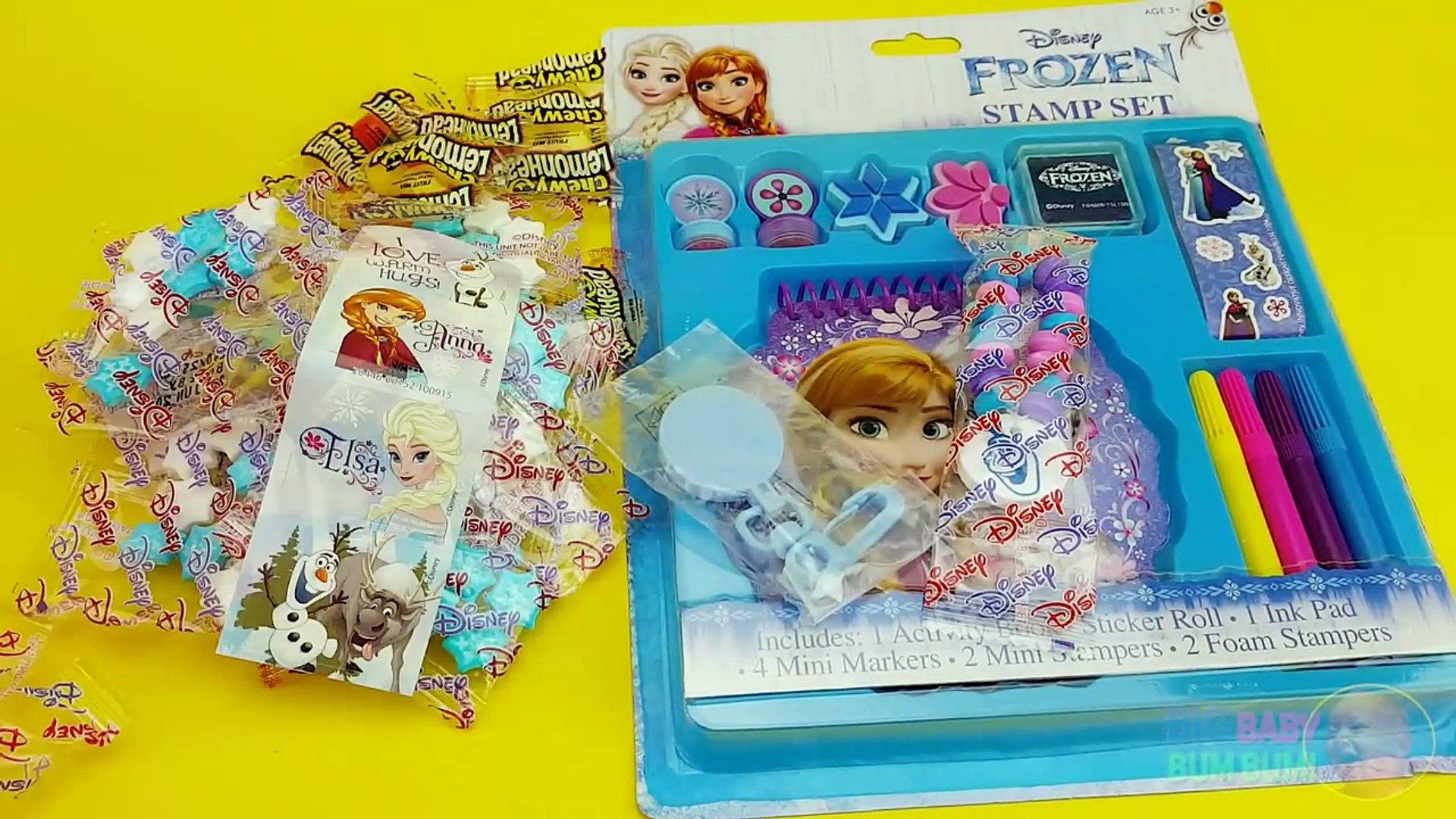 Замороженные Партии Дисней! Открываем сюрприз яйцо, блокнот и марки игрушки