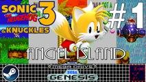 Sonic 3 & Knuckles - Mega Drive & Sega Genesis - #1 - Tails - Angel Island