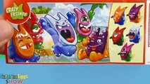 12 Surprise Eggs Kinder Joy Ice Age 5 Collision Course, Crazy Friends, a lot of Kinder Egg